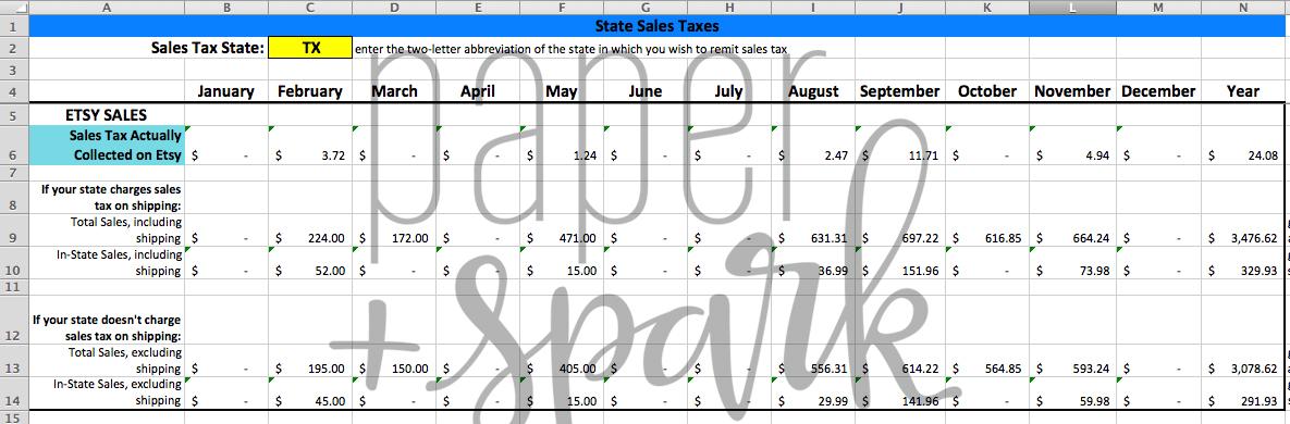 The Bestselling Etsy Seller Spreadsheet - Paper + Spark