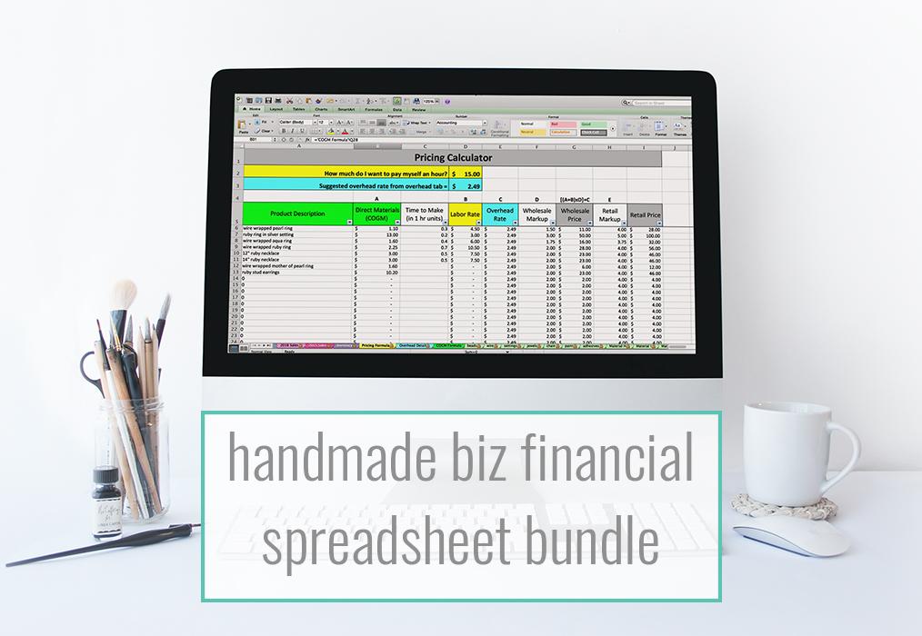 Handmade Biz Financial Spreadsheet Discounted Bundle - Paper + Spark