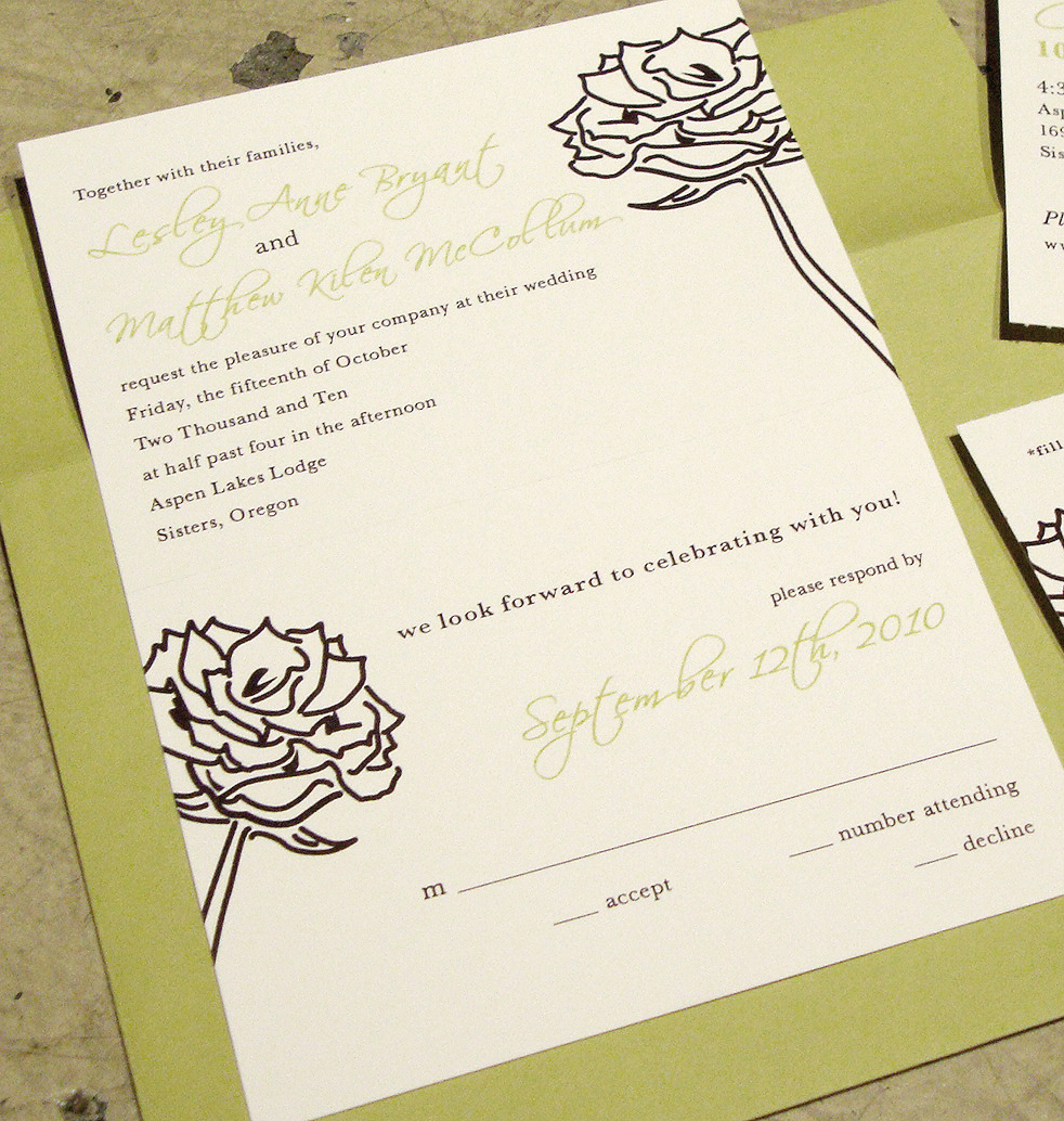 wedding invitation tear off rsvp postcard custom wedding invitations wedding invitation RSVP tear off