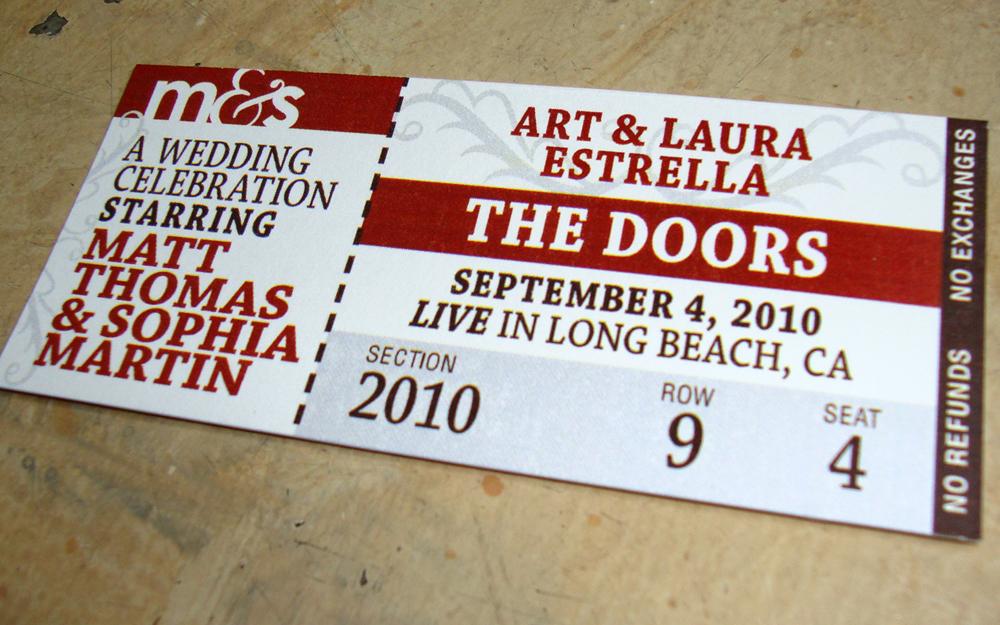 design update custom invites  tickets \u2013 papercake designs - concert tickets design