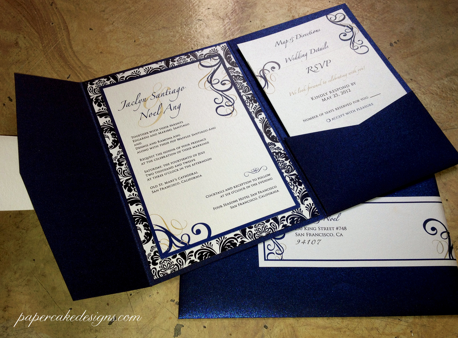 Diy Wedding Invitations With Photo Diy Print And Assemble Wedding Invitations Papercake Designs