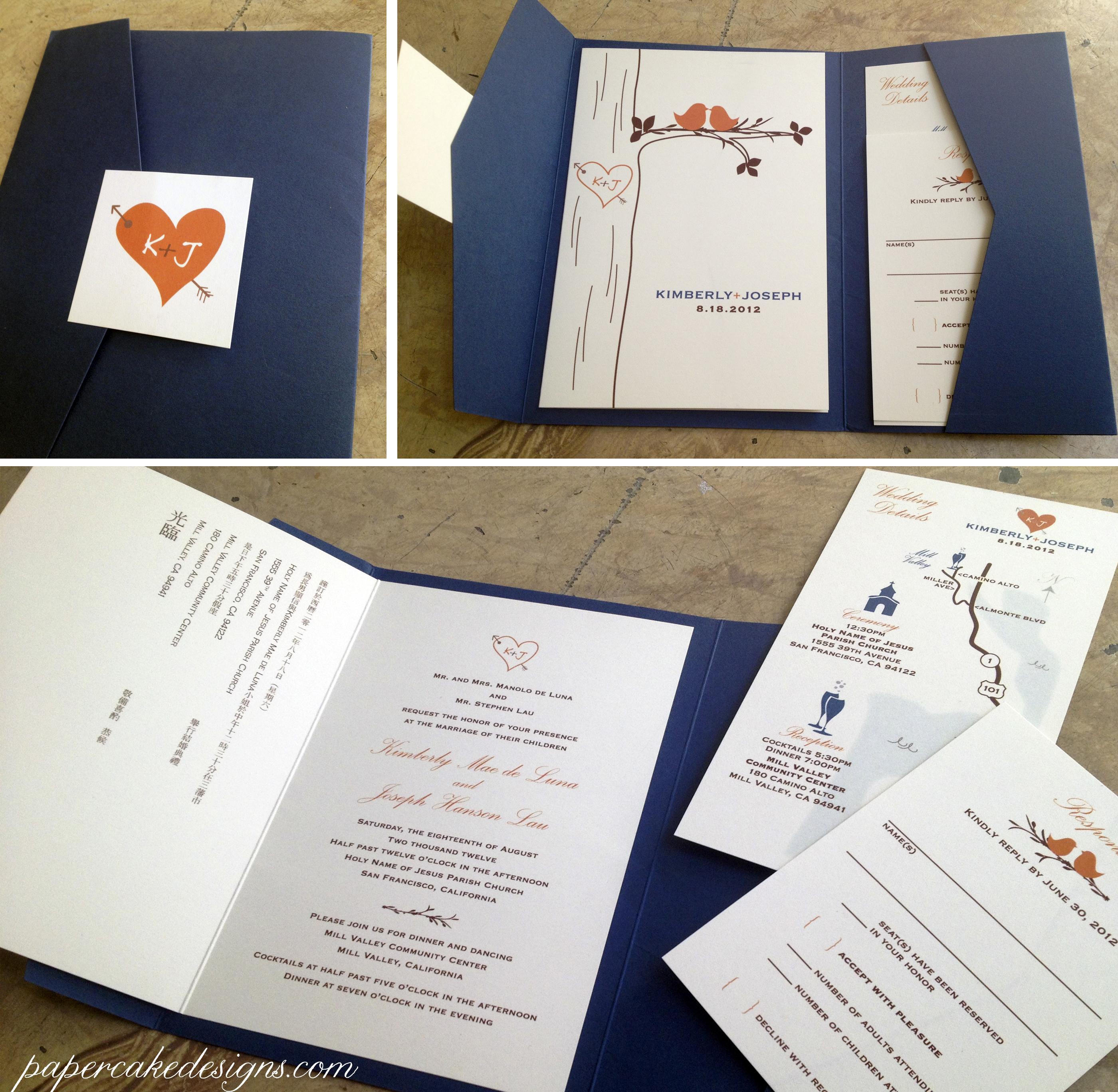 Diy Print Assemble Wedding Invitations Papercake Designs