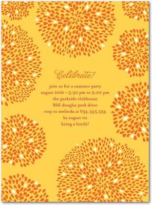 Citrus Fireworks Invitations Petite Alma