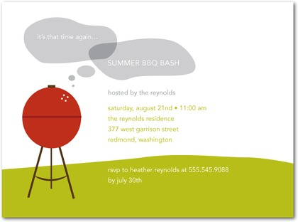 Summer Grill BBQ Party Invitations