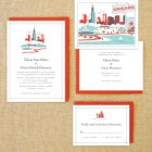 Lab Partners Hello Lucky Chicago Wedding Invitations