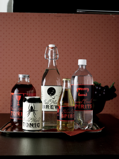 Martha Stewart Crafts Halloween Beverage Labels