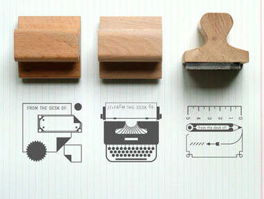 Present & Correct Desk Rubber Stamps