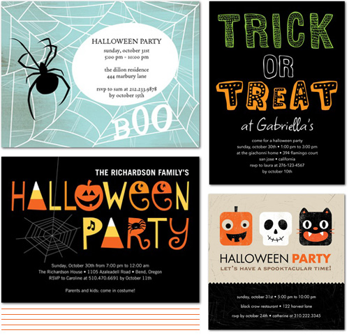 From the Shop Friday  Cute Halloween Party Invites - Paper Crave