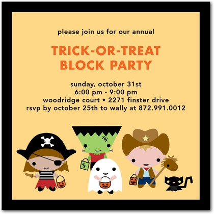 Tiny Tricksters Halloween Party Invites