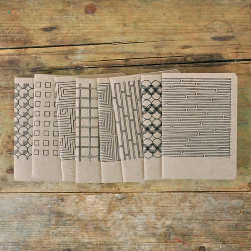 Pawling Print Recycled Chipboard Mini Notebooks
