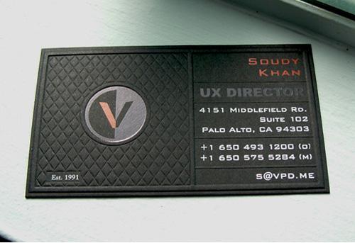 VPD Letterpress Business Cards