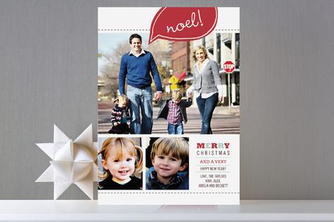 Bright Noel Holiday Photo Cards