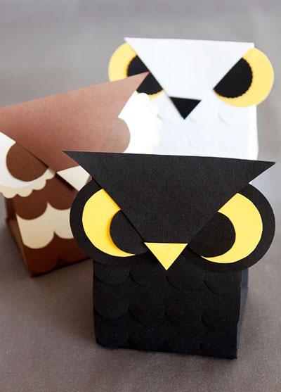 Weekly Wrap #44  Free Printable Owl Favor / Treat Box Templates