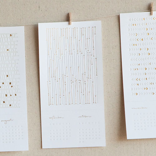 Seesaw Letterpress Calendar 2011