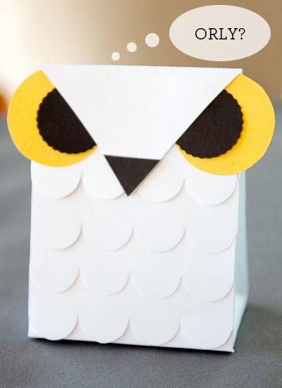 Printable Template Owl Box harvest owl lollipop favor box - diy