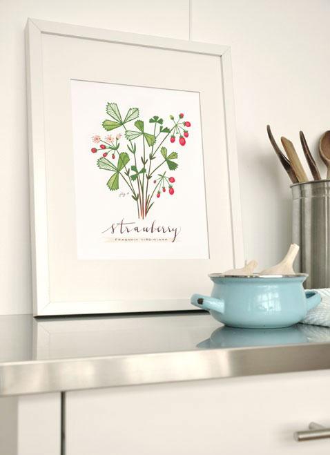 Eva Juliet Culinary Strawberry Art Print