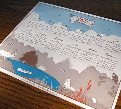 Letterpress Wall Calendar