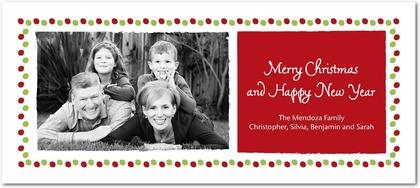 Tiny Prints Merry Dot Border Holiday Photo Cards
