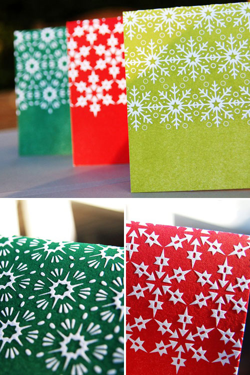 Letterpress Snowflake Holiday Cards