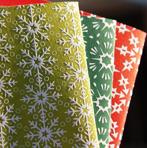 Letterpress Snowflake Cards