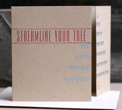 Gate Fold Letterpress Holiday Card
