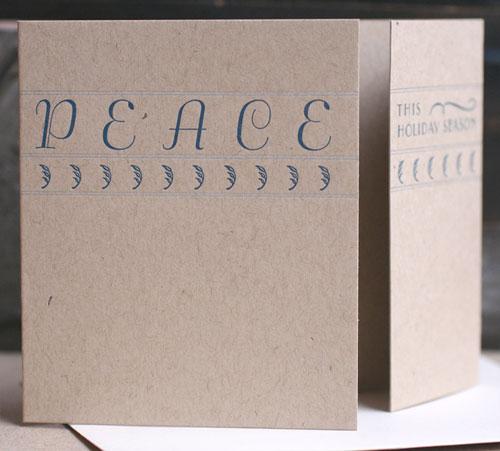Art Deco Peace Letterpress Card