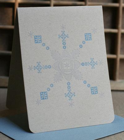 Snowflake Letterpress Card