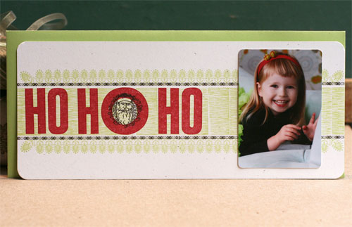 Letterpress Holiday Photo Cards