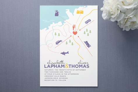 Destination Wedding Invitations by Unless Someone Like You