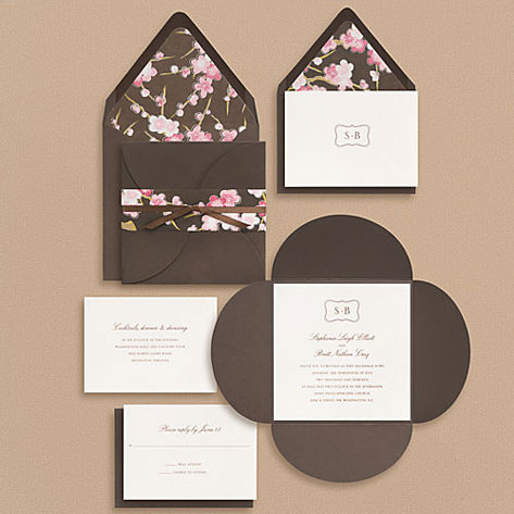 Paper Source Bracket Monogram Wedding Invitations