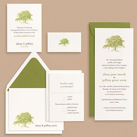 Paper Source Oak Tree Wedding Invitations