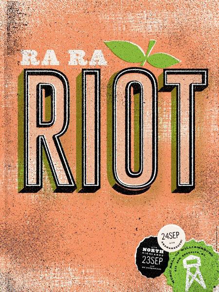 Two Arms Screen Print Ra Ra Riot