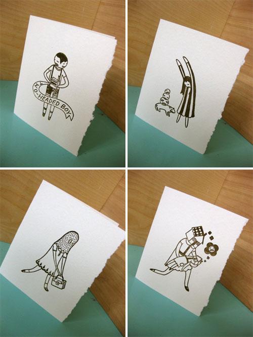 Letterpress Note Cards by Ali Aschman