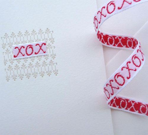 Angela Liguori Letterpress XOXO Card