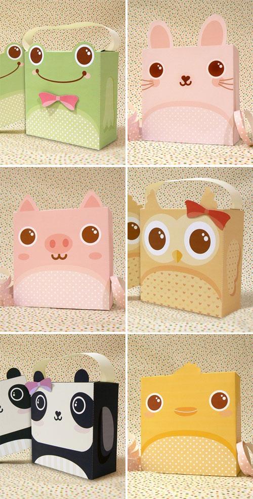 Jinjerup Cute Animal Boxes