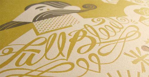 Tattoo Letterpress Poster Full Bleed