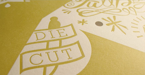 Tattoo Letterpress Poster Die Cut