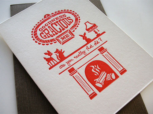 Mitchell & Dent Letterpress Birthday Cards