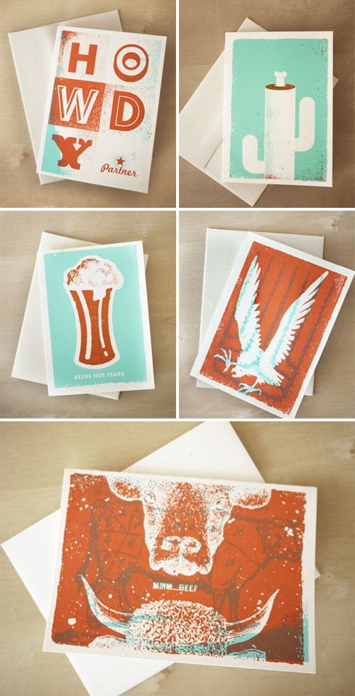Two Arms Southwest Screen Printed Cards