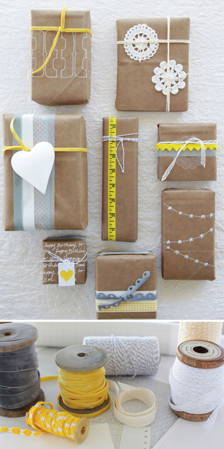 Grocery Bag Gift Wrap