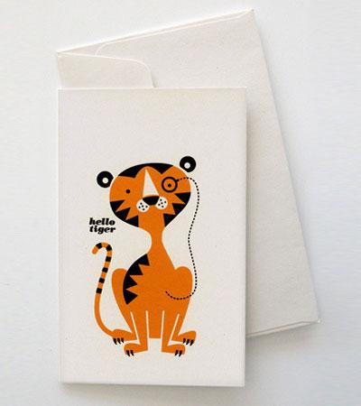 Tiger Greeting Card Mitchell & Dent