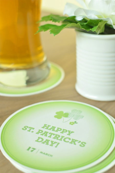 Printable St. Patrick's Day Coasters