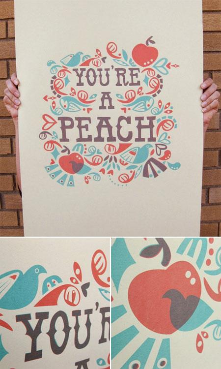 You're a Peach Print
