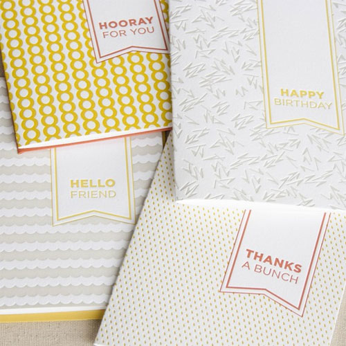 Seesaw Letterpress Greeting Cards