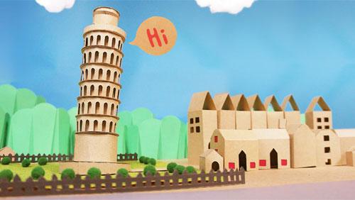 Cardboard Tower of Pisa