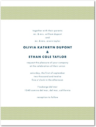 Letterpress Wedding Invitations : Dashing Dotted