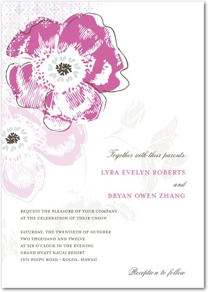 Floral Reflection Wedding Invitations