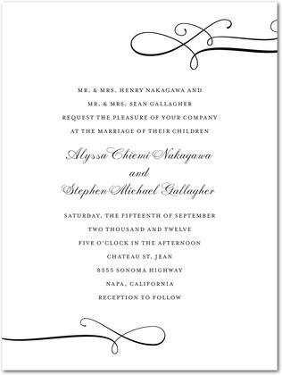 Luxe Lines Wedding Invitations