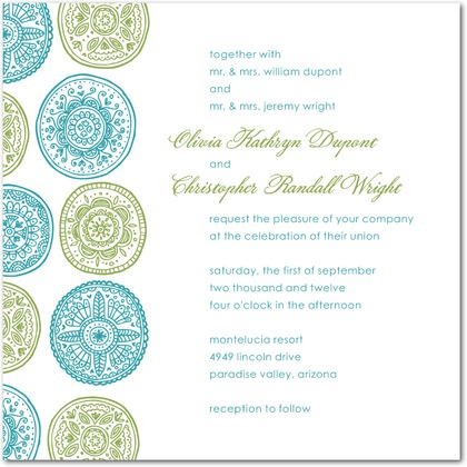 Pastoral Medallions Wedding Invitations