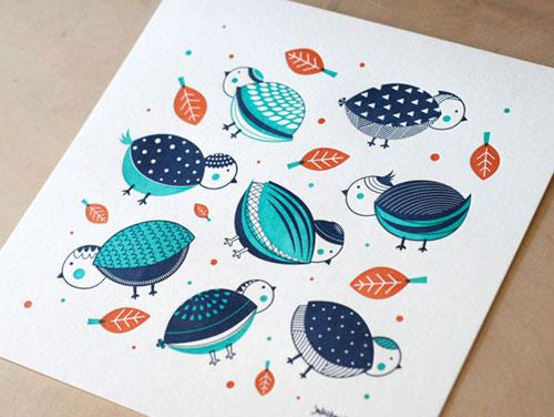 Piktorama Letterpress Print
